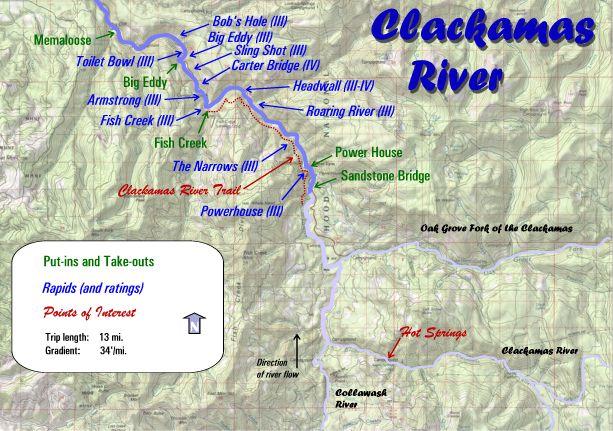 Clackamas River Maps Oregon River Experiences - Oregon river maps