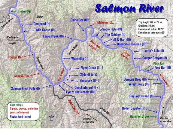 Salmon River Maps Oregon River Experiences - Oregon river maps